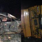 В Гатчинском районе произошло лобовое столкновение иномарки и большегруза