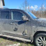 9 мая на участок жителя Колтуши влетел пьяный водитель на Лексусе