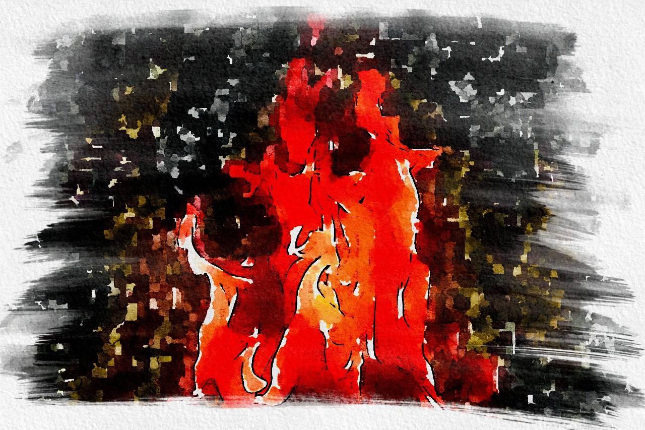 пожар в Луге