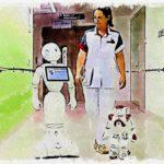 Робот помощник в Гатчинской больнице
