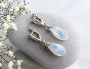 серебряные украшения с натуральными камнями МСК